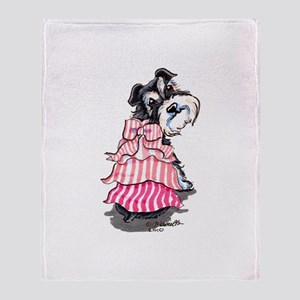 Girly Schnauzer Throw Blanket