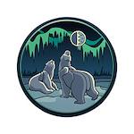 """Polar Bear 3.5"""" Button"""