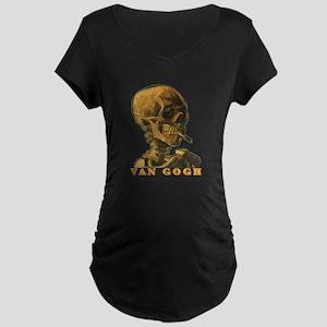 Van Gogh Skull Maternity Dark T-Shirt