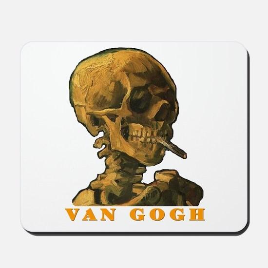Van Gogh Skull Mousepad