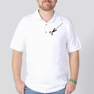Cut Here Scissors Golf Shirt