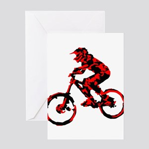 Red Bike Greeting Cards