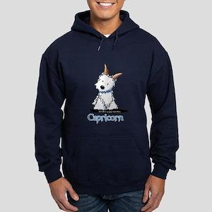 Capricorn Westie Hoodie (dark)