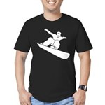 Snowboarding Men's Fitted T-Shirt (dark)
