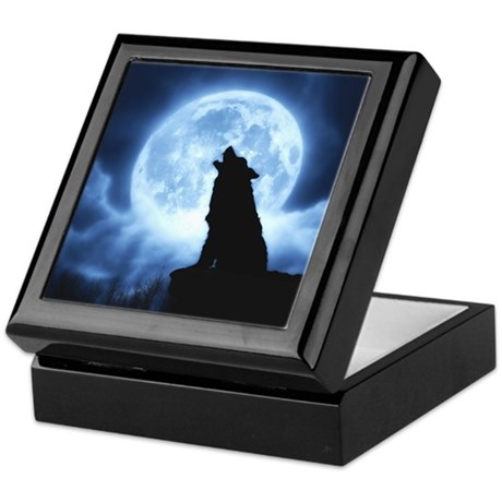 Cries of the Night Wolf Keepsake Box