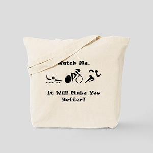 Triathlon Watch Me! Tote Bag
