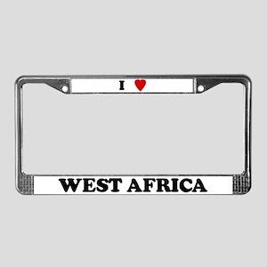 I Love West Africa License Plate Frame