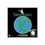 "The Earth Handle Square Sticker 3"" X 3"""