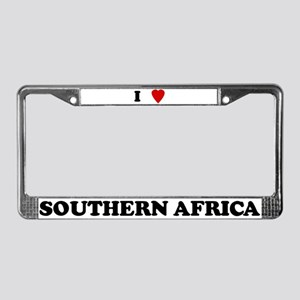 I Love Southern Africa License Plate Frame
