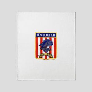 USS BLUEFISH Throw Blanket