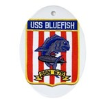 USS BLUEFISH Ornament (Oval)