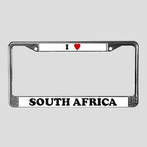 I Love South Africa License Plate Frame