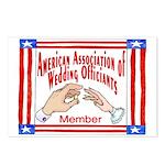 American Assn Wedding Officiants Postcards (Packag