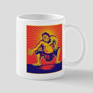 Sumo wrestler retro Mug