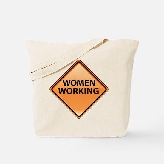 Women Working Tote Bag