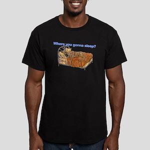 CBr Where you gonna sleep Men's Fitted T-Shirt (da