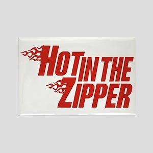Hot in the Zipper Rectangle Magnet