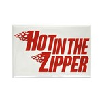Hot in the Zipper Rectangle Magnet (10 pack)