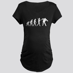 The Evolution Of Zombies Maternity Dark T-Shirt