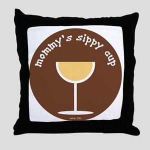 Mommy's Sippy Cup Throw Pillow