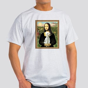 Mona & her Bedlington Ash Grey T-Shirt
