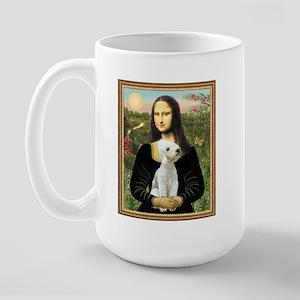 Mona & her Bedlington Large Mug