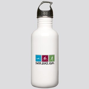Swim Bike Run Stainless Water Bottle 1.0L