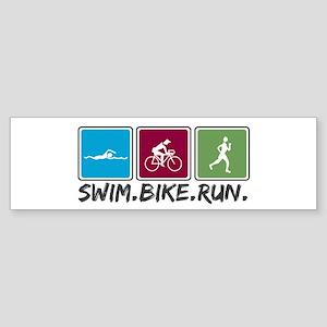 Swim Bike Run Sticker (Bumper)