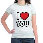 I LOVE YOU Jr. Ringer T-Shirt