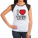 I LOVE YOU Women's Cap Sleeve T-Shirt