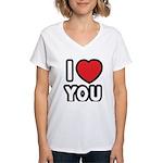 I LOVE YOU Women's V-Neck T-Shirt