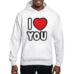 I LOVE YOU Hooded Sweatshirt