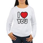 I LOVE YOU Women's Long Sleeve T-Shirt