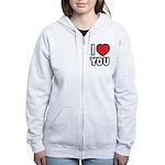 I LOVE YOU Women's Zip Hoodie