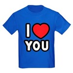I LOVE YOU Kids Dark T-Shirt
