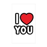 I LOVE YOU Sticker (Rectangle 10 pk)
