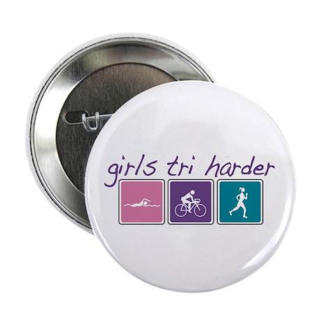 """Girls Tri Harder 2.25"""" Button (10 pack)"""