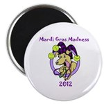 "Mardi Gras Madness 2.25"" Magnet (10 pack)"