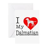 I Love My Dalmatian Greeting Cards (Pk of 20)