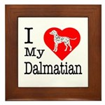 I Love My Dalmatian Framed Tile