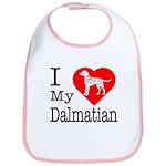 I Love My Dalmatian Bib