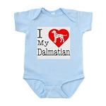 I Love My Dalmatian Infant Bodysuit