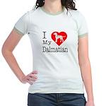 I Love My Dalmatian Jr. Ringer T-Shirt