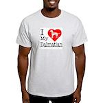 I Love My Dalmatian Light T-Shirt