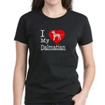 I Love My Dalmatian Women's Dark T-Shirt