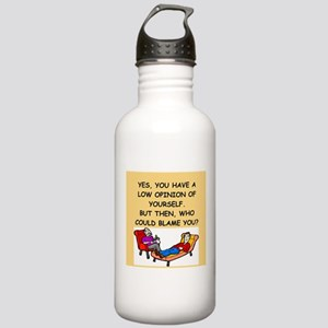 funny psychology joke Stainless Water Bottle 1.0L