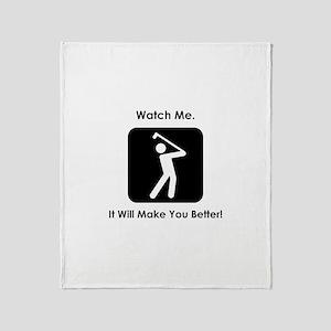 Watch Me. Golf. Throw Blanket