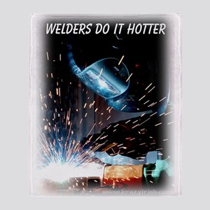 Krazy Irish Welders Do It Hot Throw Blanket