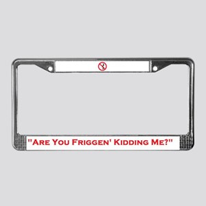 """""""No Peeing!"""" License Plate Frame"""
