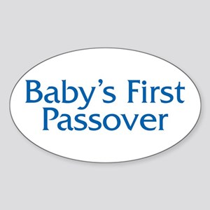 Baby's First Passover Oval Sticker